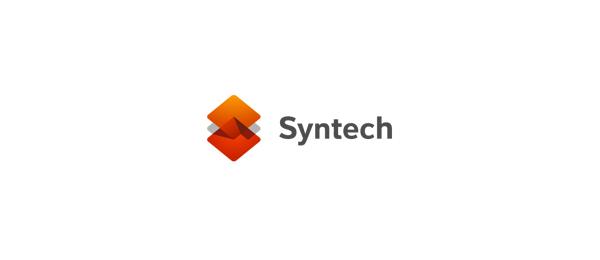 letter s logo design syntech