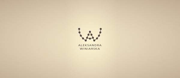 letter w logo design aleksandra winiarska