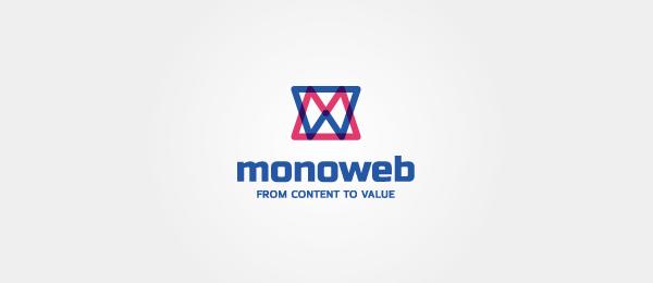 letter w logo design monoweb