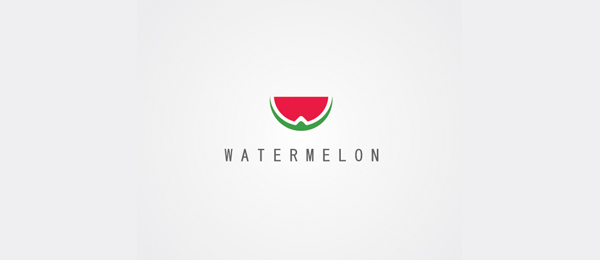 letter-w-logo-design-watermelon