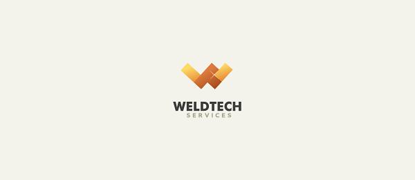 letter w logo design weldtech services