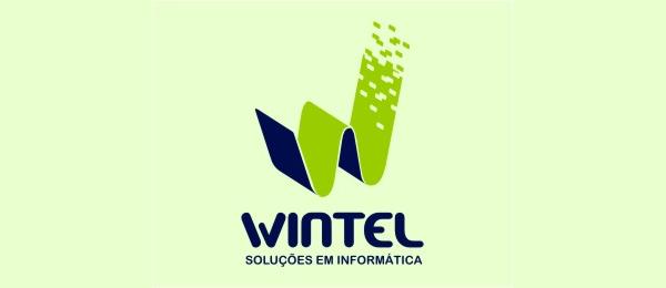 letter w logo design wintel