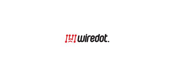 letter w logo design wiredot