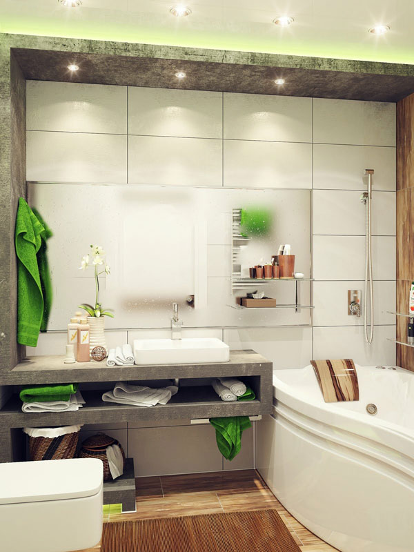 Modern Small Bathroom