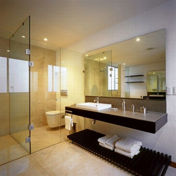Bathroom Interior Design. Modern Small Bathroom With Shower Room ...