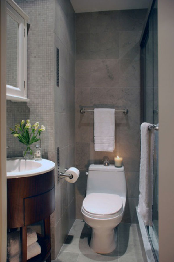 Modern Ideas For Small Bathrooms Part - 18: Old Small Bathroom Decorating