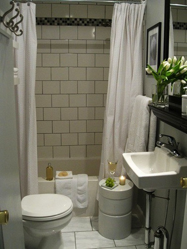 Delightful Simple Design For Small Bathroom