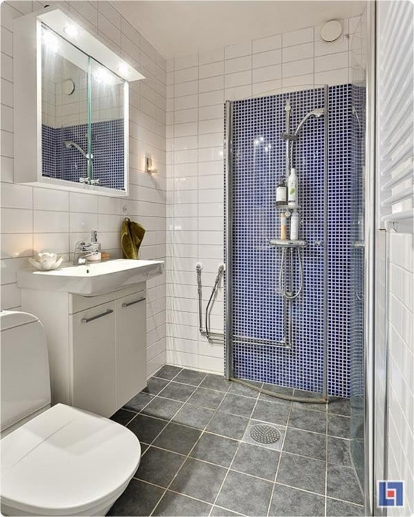 100 small bathroom designs ideas hative for Salle de bain petit espace design