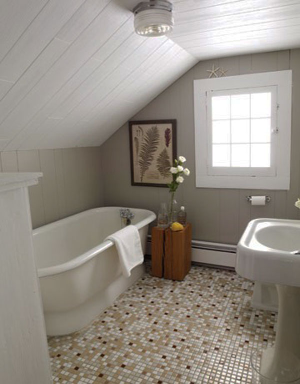 small attic bathroom design 2505