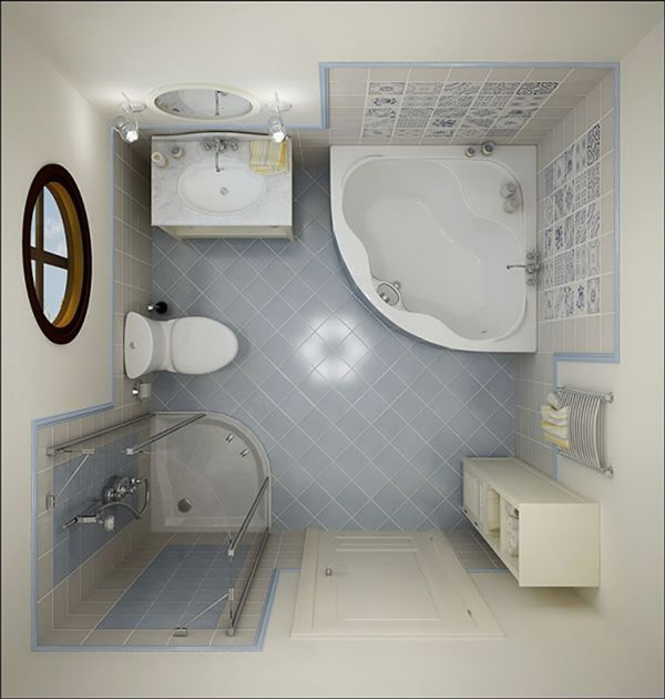 small bathroom decorating top view image 2550