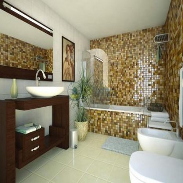 small bathroom design photo with bathtub 2545