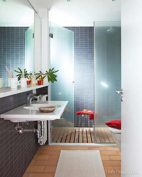 brown blue bathroom ideas