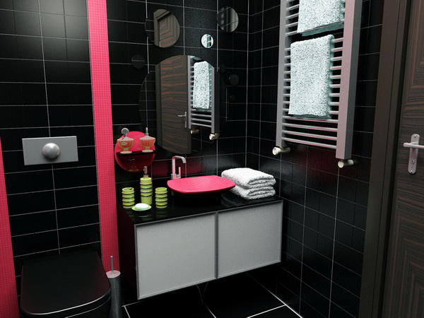 small black bathroom 2508