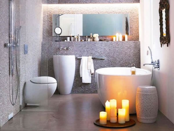 Small Contemporary Bathroom Decoration