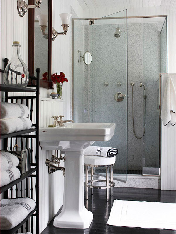 small contemporary bathroom with shower room 2533