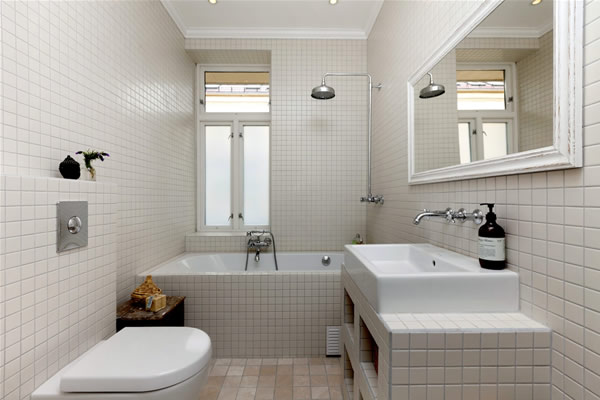 small white bathroom design layout - Small Bathroom Design Layouts