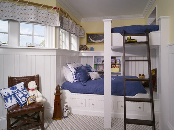 traditional boys bunkroom design by harrison design associates