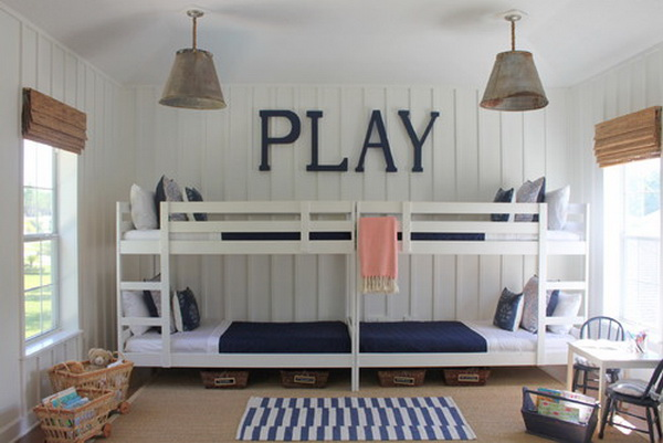 traditional kids bunkroom by lauren leonard interiors