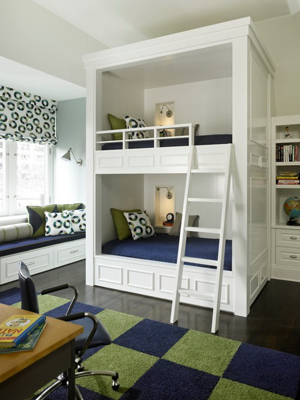traditional kids bunkroom by michael abrams limited