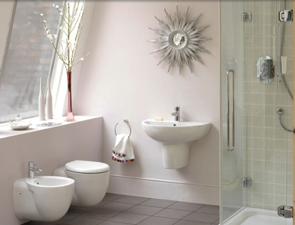 White Modern Small Bathroom