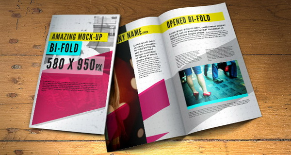 bifold brochure template psd file