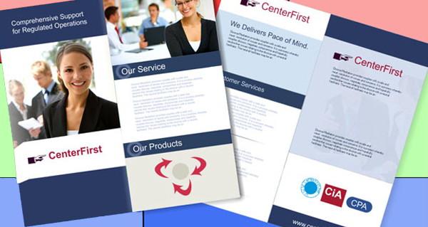 brochure design, blue white flyer psd file