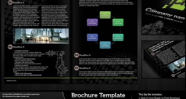 brochure template psd file