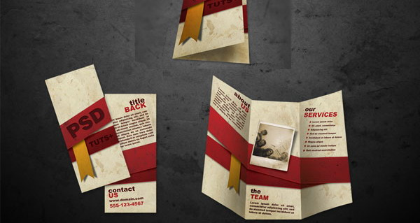 free brochure templates psd file
