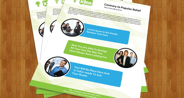 Free Corporate Single Side Brochure PSD File  Free Company Profiles Template