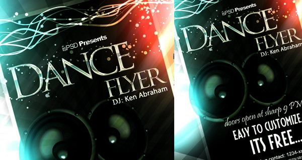 free dance flyer psd