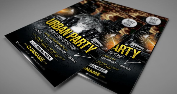 free flyer template psd download