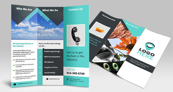 tri fold, brochure psd mockup http://hative.com/30-free-brochure-templates-download/