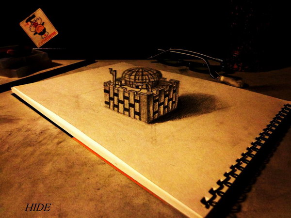 3d pencil drawings of house