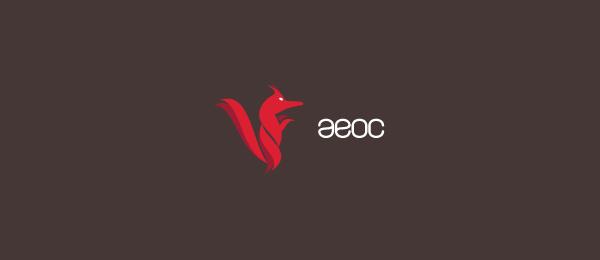 animal logo aeoc fox