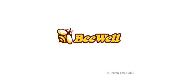 animal logo bee well