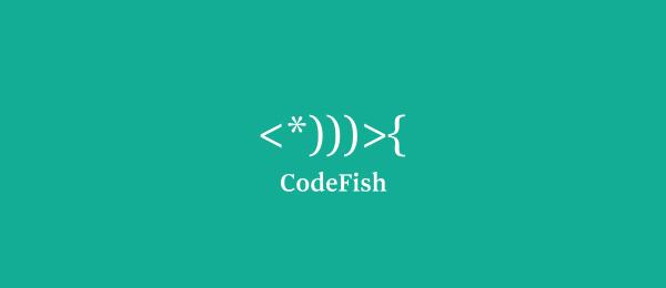 animal logo code fish