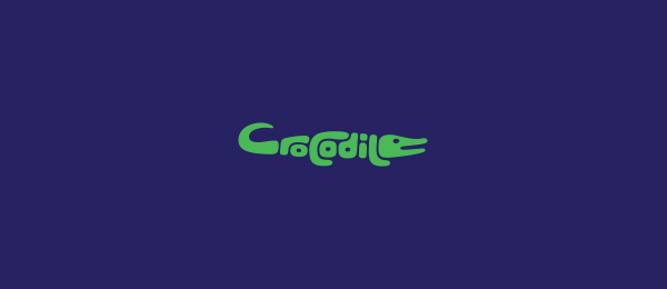 animal logo crocodile