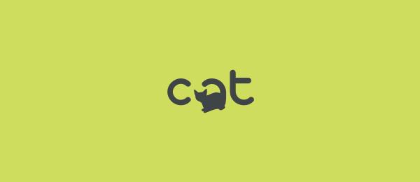 animal logo design cat