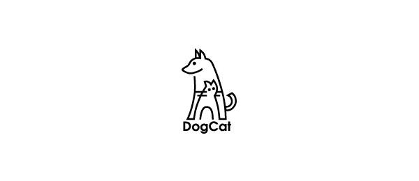 animal logo dog cat