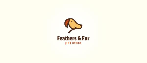animal logo feathers fur