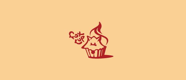 animal logo fox cup