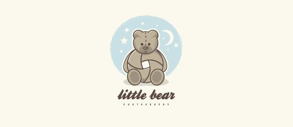 animal logo little bear