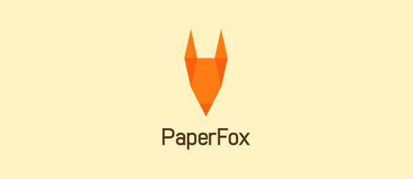 animal logo paper fox