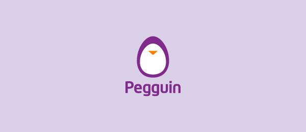 animal logo pegguin