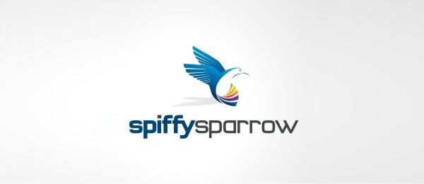 animal logo spiffy sparrow
