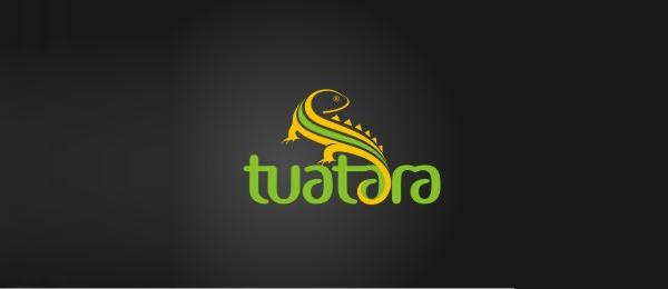 animal logo tuatara
