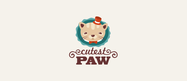 cat logo cutestpaw