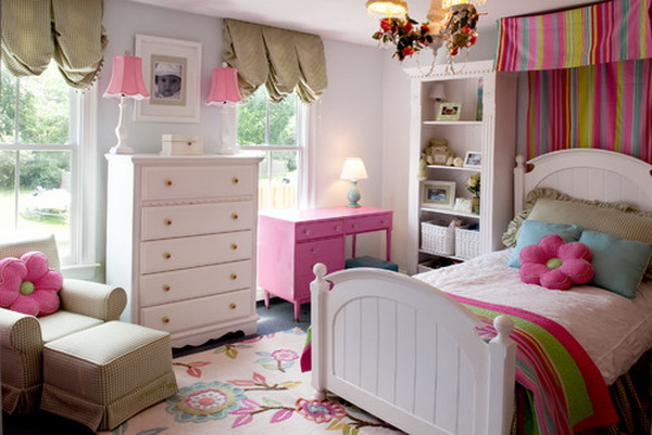 Flower Rug Girl Bedroom