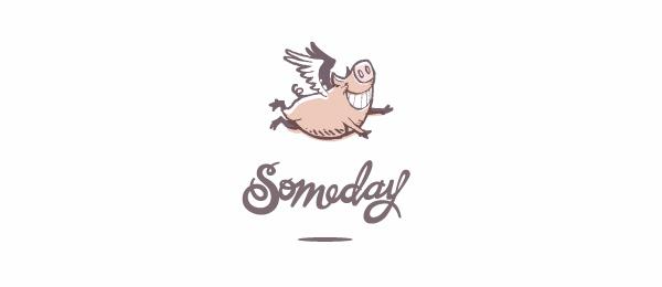 flying pig logo someday
