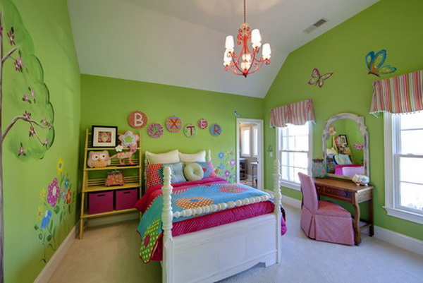 exciting teen girl bedroom green | 50 Cool Teenage Girl Bedroom Ideas of Design - Hative